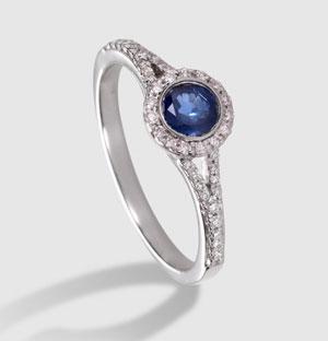 precio anillo compromiso con zafiro