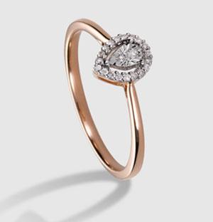 a4009466b1a0 Anillo en oro rosa de 18 quilates y diamantes. Color y Claridad GH I.