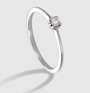 comprar anillo compromiso diamante y oro blanco