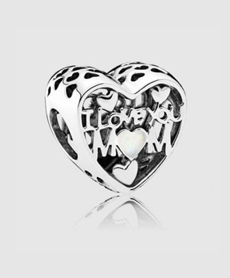 charms para mamás love mom pandora