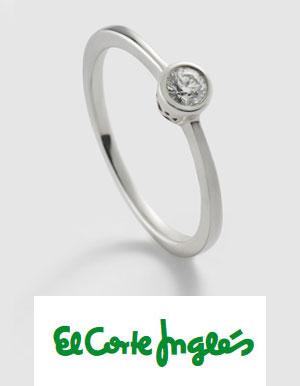 precio anillo de compromiso en el corte ingles