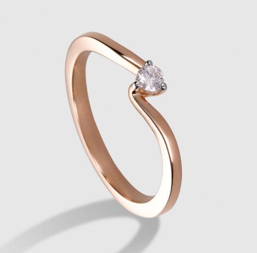 precio anillo de pedida oro rosa y diamante