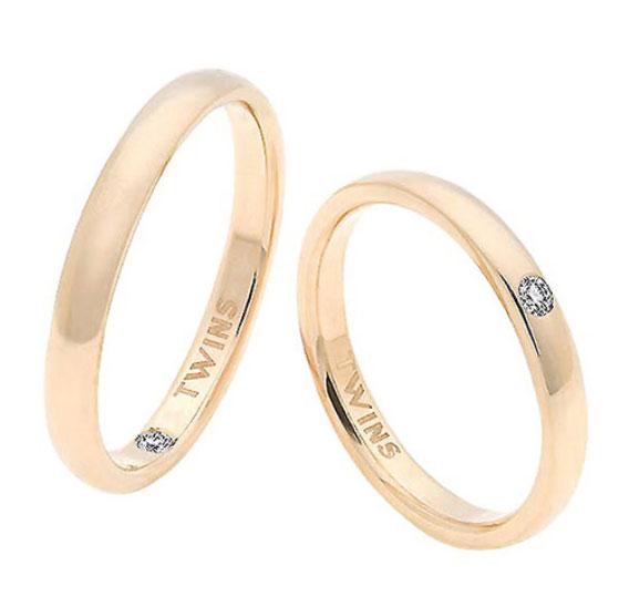 alianzas de boda almendradas de oro y diamantes
