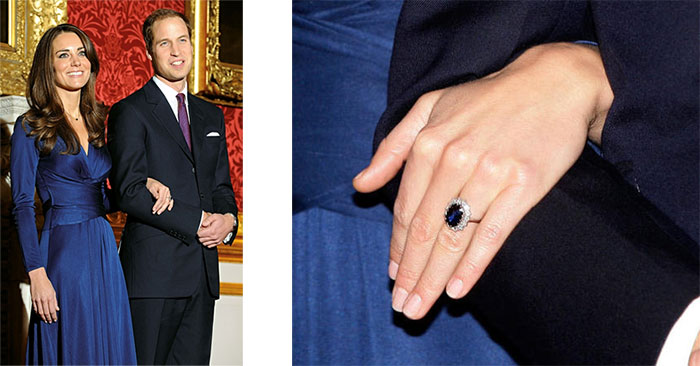 Anillo Compromiso Kate y William