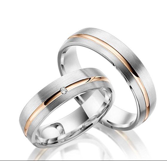 alianzas de boda diferentes para hombre y mujer
