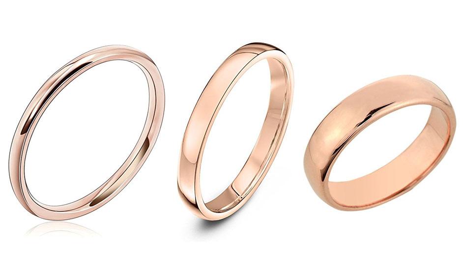 comprar alianzas de oro en oro rosa baratas
