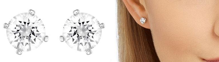 pendientes para novias de cristales swarovski discretos y sencillos